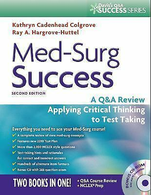 Med-Surg Success:Q&a Review Applying Critical Thinking Test Taking ONLINE PDF