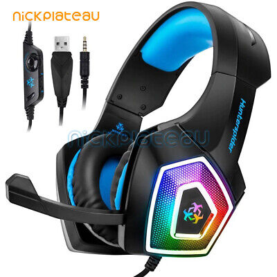 Hunterspider V1 Stereo Bass Surround Gaming Headset Headphone for PS4 Xbox One
