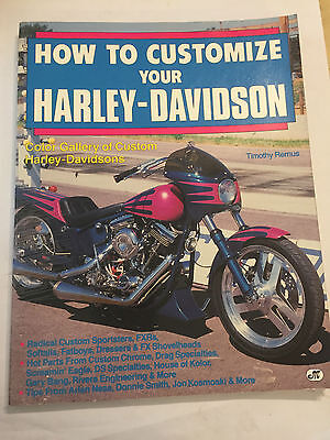 How To Customize Your Harley-Davidson BOOK/MANUAL By TIMOTHY REMUS FXRs FAT SOFT