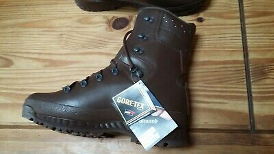 Haix Cold Wet Weather Brown Leather Goretex Boots Size 11W British