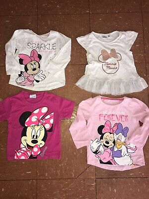 Girls Minnie Mouse T-shirt Bundle Age 2-3 Years