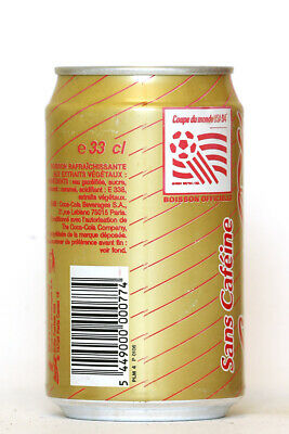 1994 Caffeine Free Coca Cola can from France, World Cup USA 94 (1)