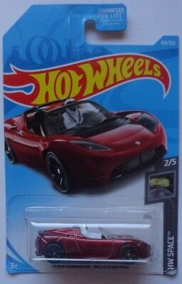 2019 Hot Wheels HW SPACE 2/5 Tesla Roadster With Starman 109/250