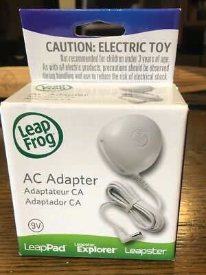 NEW LEAP FROG 9V AC Adapter For Leap Pad Leapster, Leapster Explorer, LeapPad