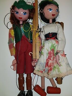 PELHAM PUPPET COW GIRL AND YOUNG GIRL C60/70's