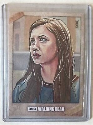 2017 Topps Walking Dead Enid Artist Sketch Veronica O'Connell 1/1