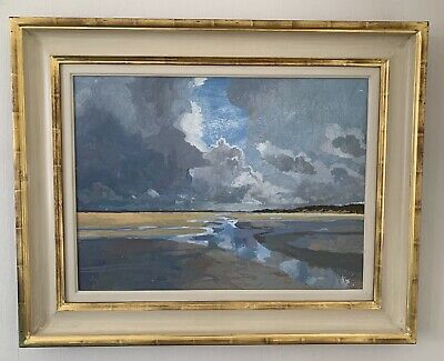 Ruth STAGE NEAC, 'Sand dunes, Normandy' egg tempera on gesso board painting