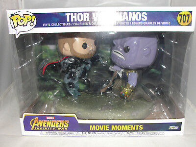 Funko Movie Moments Marvel Avengers Infinity Wars Thor vs.Thanos Figure Set