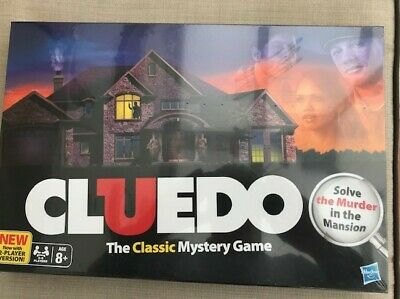 NEW... CLUEDO Board Game - by Hasbro 2-6 players with 2 Player Version. Age 8+