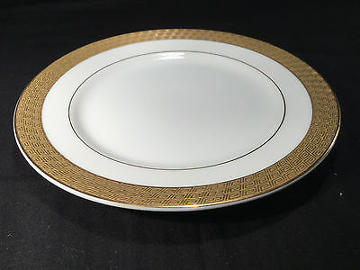 "REGENT CHOP PLATE / ROUND SERVING PLATTER by MIKASA 12"" Gold Encrusted Geometric"
