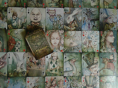 Dominic Murphy signed Limited Edition Alice in Wonderland Art Playing Cards