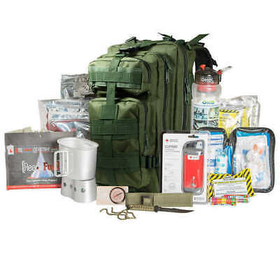 72 Hour Military Style Tactical Backpack Survival Kit-Green,Heavyweight Canvas