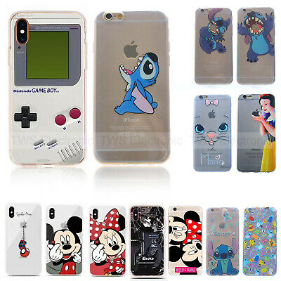 Slim Disney Snow White Back Soft TPU Case Cover For iphone 6S 7 Plus XR XS Max