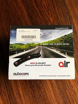 AIR AUTOCOM IN-HELMET MOTORCYCLE BLUETOOTH HEADSET Solo - Used