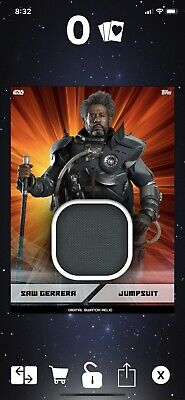 Topps Star Wars Card 2019 Marathons Digital Swatch Relics Saw Gerrera Jumpsuit