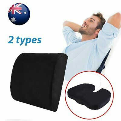 Memory Foam Lumbar Back Pillow Support Back Cushion Home Office Car Seat Chair A