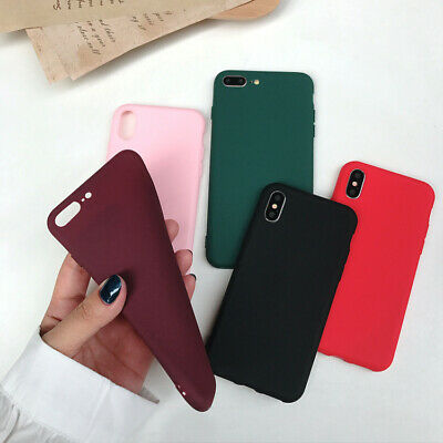 Case for iPhone 8 7 Plus XR XS MAX ShockProof Soft Phone Cover TPU Silicone New