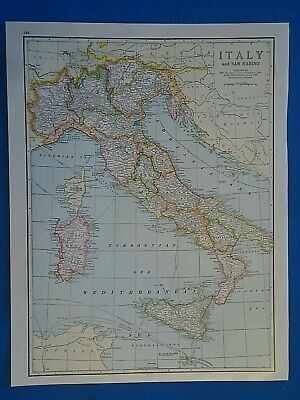 Vintage 1941 ITALY Map ~ Old Antique Original Atlas Map 20819
