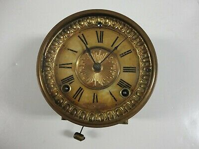 Antique ANSONIA Clock MOVEMENT #4-1/2 Set w/ Dial, Bezel, Gong