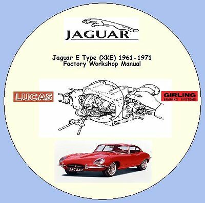 Jaguar E Type(XKE)1961-1971 Series 1 & 2 3.8 & 4.2 FACTORY WORKSHOP MANUAL