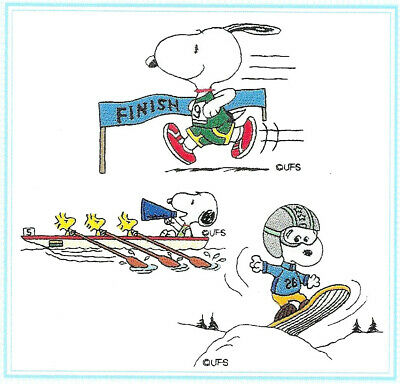 SNOOPY OLYMPICS #34 Embroidery Memory Card for Brother B. Deco Baby Lock .pes