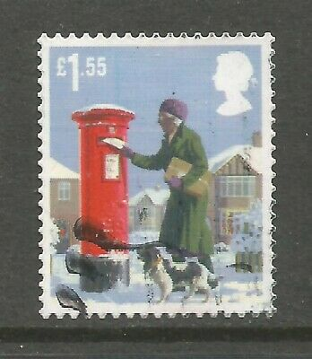 2018 CHRISTMAS £1.55p HIGH VALUE - VERY FINE USED AS SCAN