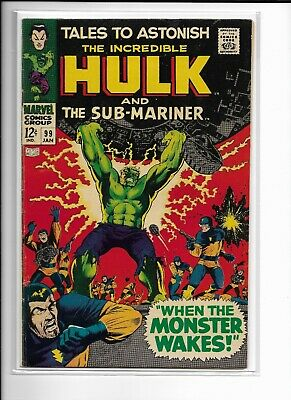 TALES TO ASTONISH 99 Marvel Comic THE INCREDIBLE HULK & SUB-MARINER Great Cover