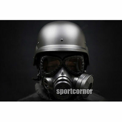 Paintball Cosplay M88 helmet & Tactical gas mask paragraph Fan Protective Mask