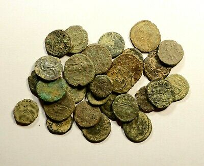 Lot Of 30 Imperial Roman Bronze Coins For Identifying - 15