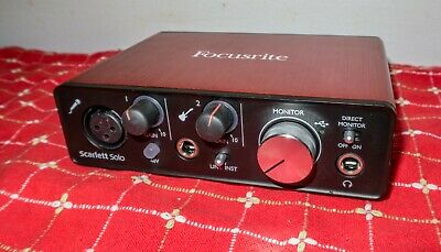 Focusrite Scarlett Solo Audio Interface w/Cable 1st Gen One Owner NR
