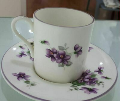 Aynsley - Tazza Da Caffe' English Violet In Porcellana Made England Coffee Cup