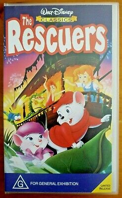 THE RESCUERS Walt Disney Home Video Tape VHS PAL Buena Vista Australia