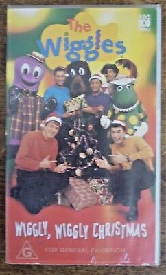 THE WIGGLES Wiggly Wiggly Christmas Roadshow Australia VHS PAL ABC Video Tape