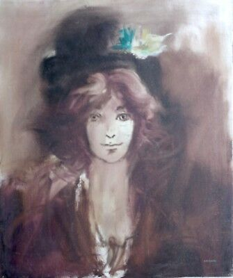 FEMALE PORTRAIT by MEXICAN MODERNIST MASTER GILBERTO ACEVES NAVARRO
