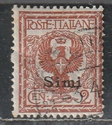 1912 Italian colony stamps, Agean Simi, 2c used SC 1