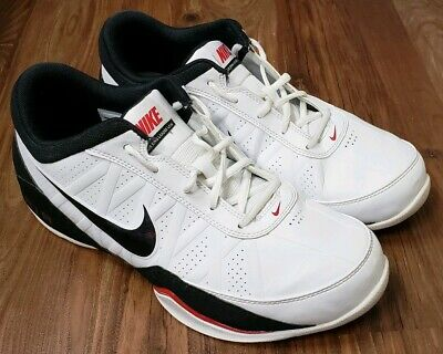 99f39a1dcc7 Nike Air Ring Leader 488102-100 Black White Red Men s Basketball Shoes Size  10.5