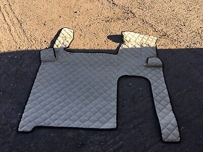 MAN TGX TRUCK ECO LEATHER FLOOR MATS SET-  Beige Can Out 62 Plate Tgx
