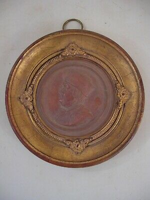Gold Gilt Wood Frame Ben Franklin Medallion Plaque French Grand Tour Style NINI