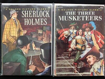 GOLDEN PICTURE CLASSICS Lot of 2 Western Comics - #408 Sherlock 409 3 Musketeers