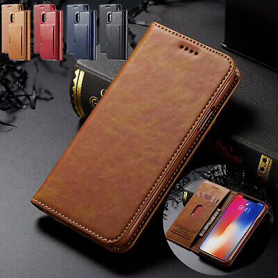 iPhone 7 Plus 8 Magnet Flip Leather Wallet Case Shockproof Cover Stand For Apple