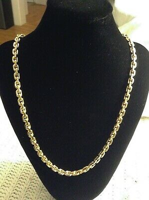 14k solid yellow gold cable link chain necklace 26'' heavy 157.7g w/appraisal