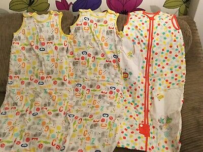 Three Sleeping Bags. Two Winter & One Summer. Size 18-36 Months. Mothercare