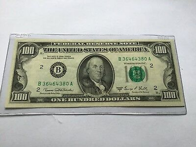 1969C Federal Reserve One Hundred 100 Dollar Franklin Note Bill A Series NewYork