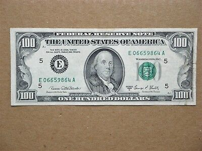 1969c /$100 One Hundred Dollar Bill /Richmond Rederal Reserve Note FRN / VF-XF