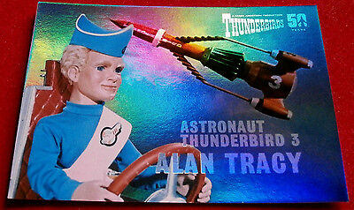 THUNDERBIRDS 50 Years - COMPLETE CHASE SET - 10 Mirror Foil Cards - 2015