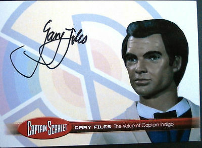 CAPTAIN SCARLET - Gary Files, Captain Indigo, Autograph Card - Unstoppable GF2