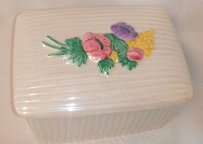 Art Deco lustreware Maling Lidded Pot 1930's