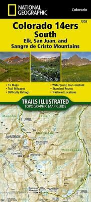 National Geographic TI Topo CO Colorado 14ers South Topographic Map Guide
