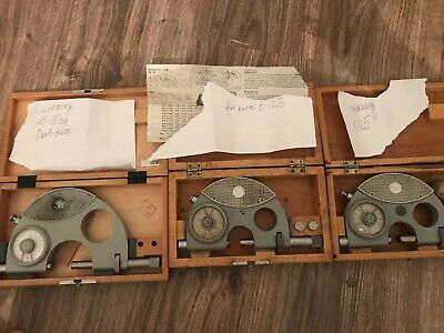 price for 3 pcs   Working dial indicating micrometers 0-25mm and 25-50mm