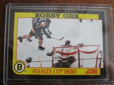1991-92 Score Bobby Orr Stanley Cup Hero insert Card Boston Bruins
